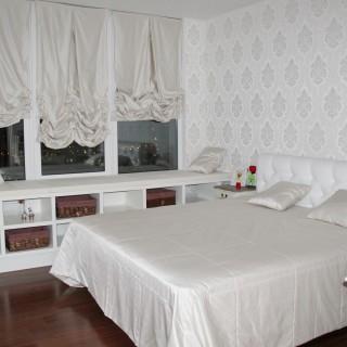 Шторы и текстиль в белую спальню Федора и Насти.