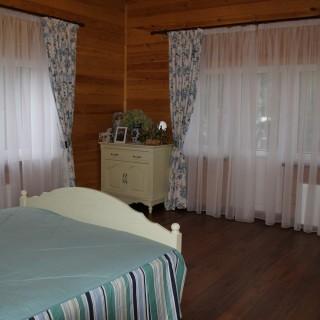 Шторы из испанского хлопка в спальню стиля прованс. Клиенты Александр и Наталья.